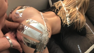 Anal sis challenge in gape loves cock ass huge duct tape