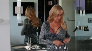 PureMature Mature busty Brandi Love rides hard porn watching cock Kink czechfantasy