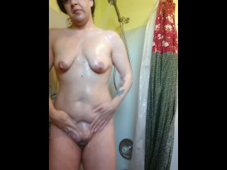 Cunt exploding in the shower