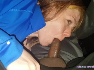 Car Blowjob BBC Draining on the Highway 495 MD