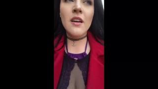 Quick public orgasm lingerie tits