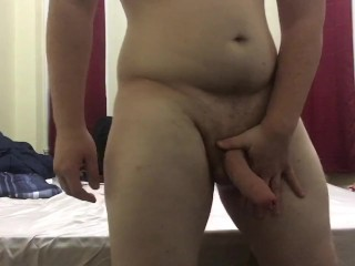 Showing Off My Big Uncut Cock