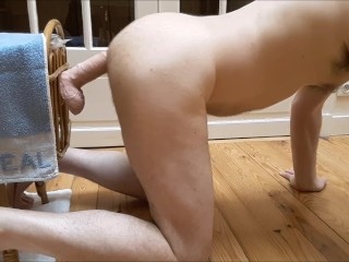 Superb ass drilling and ass to mouth, straight guy enjoying it, anal gaping