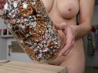 Naked Baking Ep.23 Peppermint Pretzel Bark, Trailer