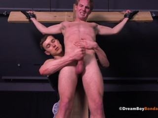 Gay Muscle Bondage BDSM Crucifixion Whipping Hung Dream Boy Sucks Cock