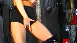 Busty dyke domina stretching subs tight ass with a strapon Toy redhead