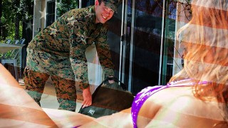 Asian StepMom Christy Love Gives Her Soldier StepSon A Warm Welcome Home