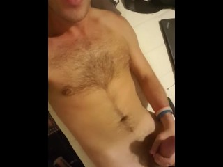 Fratstud stroking hard cock (comment for more)