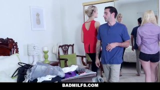 BadMILFS - Slutty Stepmom Gives Her Stepdaughters Boyfriend A Blowjob porno