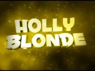 Holly blonde taking a bath
