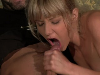 Petite Blonde Gets Anal Fucking From Huge Cock