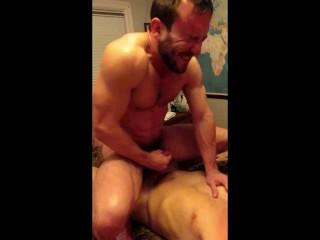 Mike Gaite rides cock rough