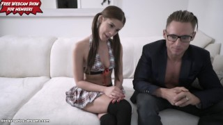 School Girl get never enough - Little Caprice - LIVE FUCK