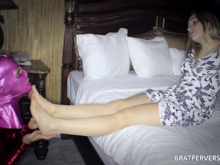 Blonde's FIRST TIME FEMDOM Experience