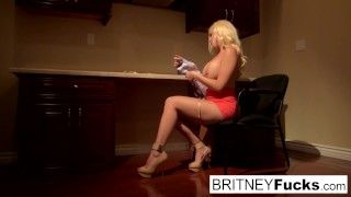 Preview 3 of Blonde Bombshell Britney seduces a big cock in a pov scene