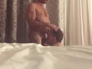 Strict stepfather verbal and physical discipline to sons holes