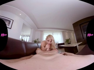 18VR.com Blonde Hottie Cherry Kiss Letting You Fuck Her Ass