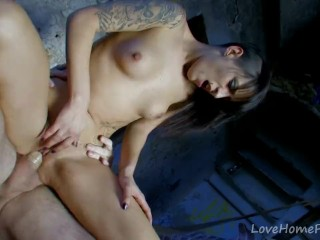 Fucking A Tattooed Latina Babe In The Ass