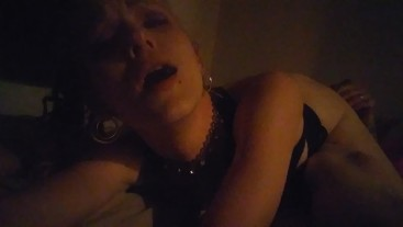 Blonde slut fucks around while she waits for her first bbc