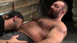 Big Bear Daddy Brad Kalvo Fucks Younger Boy's Hairy Ass