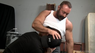 Big Bear Daddy Brad Kalvo Fucks Younger Boy's Hairy Ass