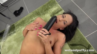 Sex Toys - Black dildo play for gorgeous Czech babe Vanessa Twain