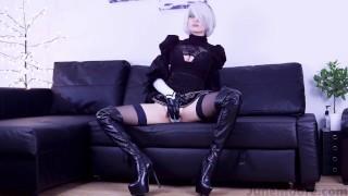 Nier Automata - 2B Solo Masturbate - Game Hentai Porno Cosplay Uncut voyeur