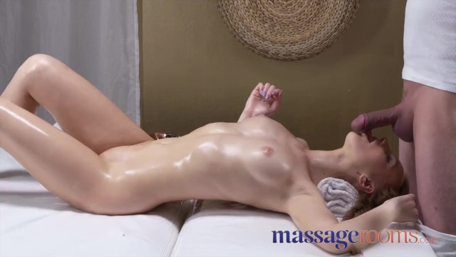 Cock massagge Massage rooms petite tight young russian worships the cock that fills her