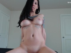 Early Morning Ride by Hot Babe w/ Big Bouncing Tits POV - Stella Von Savage