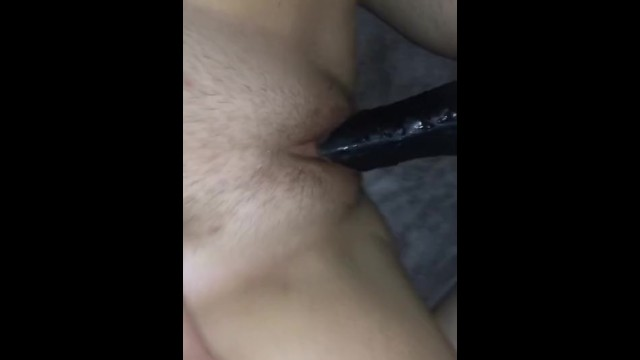 Juicy pussy fucked by big dildo 13
