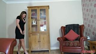 UK MILF Karen Wood stripping and playing compilation