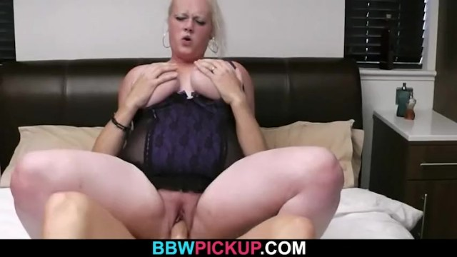 Blonde plumper riding strangers cock 23