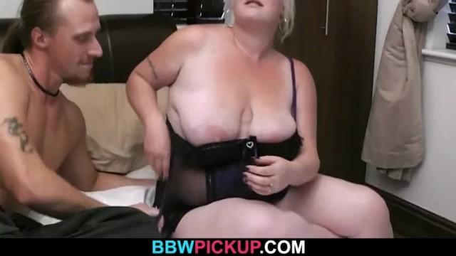 Blonde plumper riding strangers cock 19