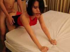 Asian slut always beg her FWB to cum inside her pussy