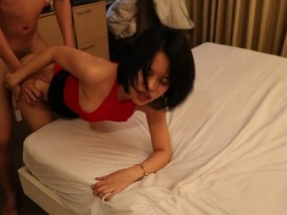 Asian slut always beg her FWB to cum inside her pussy