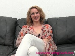 - Pretty Blonde Stripper First Time Anal on Casting Couch/><br/>                         <span class=