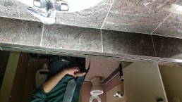 Young Guy Cums in Public Restroom - Almost Caught!