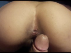 Young latinos having simultaneous orgasms in doggystyle with vaginal farts