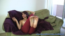 Sexy Yoga Pants Foot Fetish From Hot & Petite Redhead JOI Slut Raven Rae!