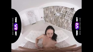 TmwVRnet.com - Lexi Layo - Horny Brunette Blows and Fucks a Fat Dick Brunette virtualrealgay