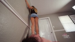 Naomi Swann Brutal face trampling & Jumping Brattyfootgirls.com