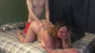 New Whore start with toy fucked doggy bang slut smile happy dick inside her