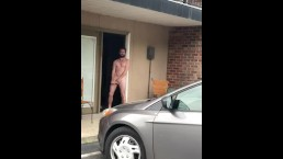 Caught naked outside friend's apartment