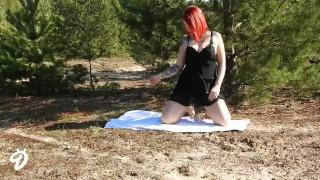 Outdoor nina devil striptease ninadevil girl