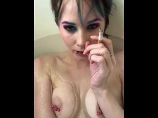 Bath and a cigarette