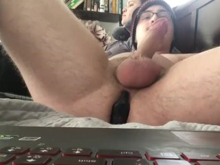 Lovense Hush in Cumshow! Girlfriend Ignores while I do a Private Show