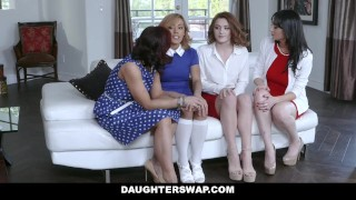 Sex lesbo stepdaughters daughterswap their moms hot two teach lesbian toys