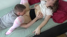 Neardy baby with big ass and natural tits loves to scream