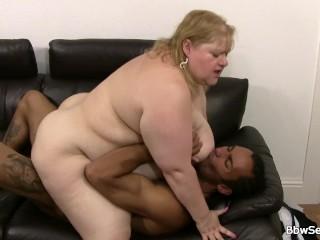Black dude licks and fucks her huge fat hole