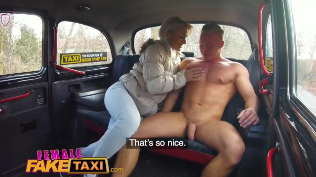Female Fake Taxi Nympho Blonde Driver Swaps Muscly Studs -6447